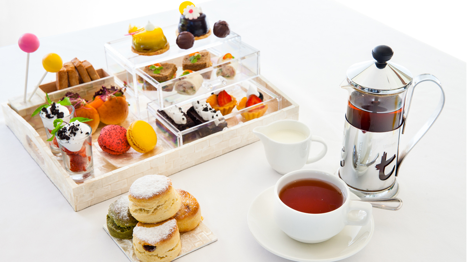 indulgence afternoon tea at cascade bar, the laguna bali resort